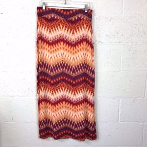a.n.a Geometric Stripe pattern Maxi Skirt, Size:PM
